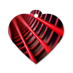 Abstract Of A Red Metal Chair Dog Tag Heart (Two Sides)