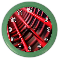 Abstract Of A Red Metal Chair Color Wall Clocks
