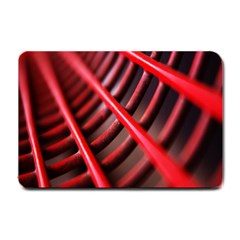 Abstract Of A Red Metal Chair Small Doormat