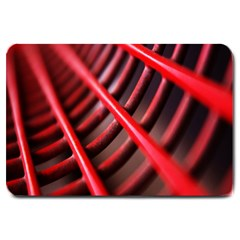 Abstract Of A Red Metal Chair Large Doormat