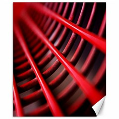 Abstract Of A Red Metal Chair Canvas 11  x 14