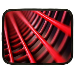 Abstract Of A Red Metal Chair Netbook Case (large)