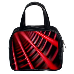 Abstract Of A Red Metal Chair Classic Handbags (2 Sides)