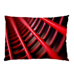 Abstract Of A Red Metal Chair Pillow Case