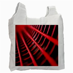 Abstract Of A Red Metal Chair Recycle Bag (One Side)