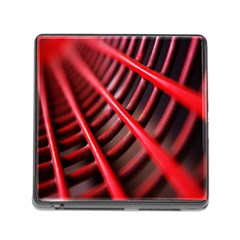 Abstract Of A Red Metal Chair Memory Card Reader (Square)
