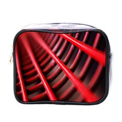 Abstract Of A Red Metal Chair Mini Toiletries Bags