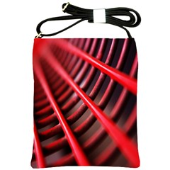 Abstract Of A Red Metal Chair Shoulder Sling Bags
