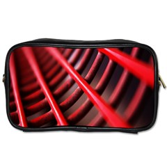 Abstract Of A Red Metal Chair Toiletries Bags 2 Side