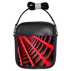 Abstract Of A Red Metal Chair Girls Sling Bags