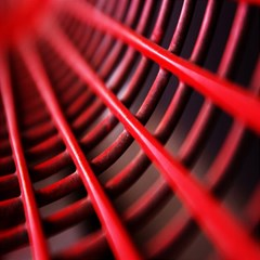 Abstract Of A Red Metal Chair Magic Photo Cubes