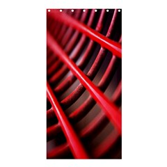 Abstract Of A Red Metal Chair Shower Curtain 36  X 72  (stall)