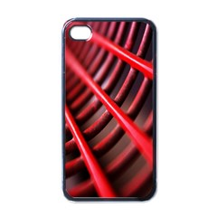 Abstract Of A Red Metal Chair Apple Iphone 4 Case (black)