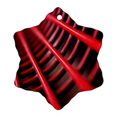 Abstract Of A Red Metal Chair Ornament (snowflake)