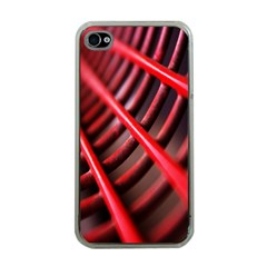 Abstract Of A Red Metal Chair Apple iPhone 4 Case (Clear)