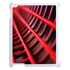 Abstract Of A Red Metal Chair Apple Ipad 2 Case (white)