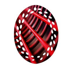 Abstract Of A Red Metal Chair Ornament (Oval Filigree)