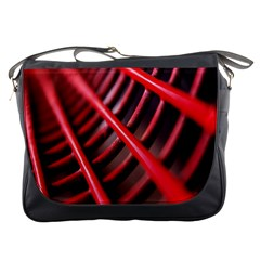 Abstract Of A Red Metal Chair Messenger Bags