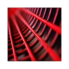 Abstract Of A Red Metal Chair Acrylic Tangram Puzzle (6  x 6 )