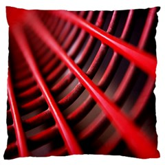 Abstract Of A Red Metal Chair Large Cushion Case (One Side)