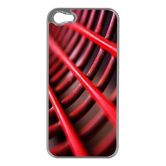 Abstract Of A Red Metal Chair Apple iPhone 5 Case (Silver)