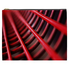 Abstract Of A Red Metal Chair Cosmetic Bag (XXXL)