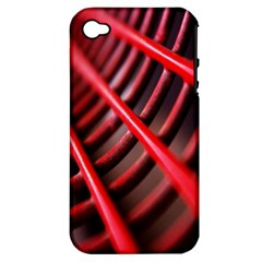 Abstract Of A Red Metal Chair Apple Iphone 4/4s Hardshell Case (pc+silicone)