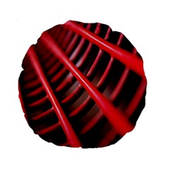 Abstract Of A Red Metal Chair Standard 15  Premium Round Cushions