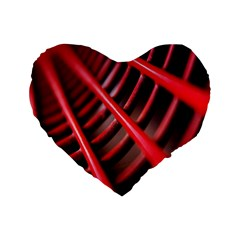 Abstract Of A Red Metal Chair Standard 16  Premium Heart Shape Cushions