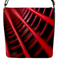 Abstract Of A Red Metal Chair Flap Messenger Bag (s)