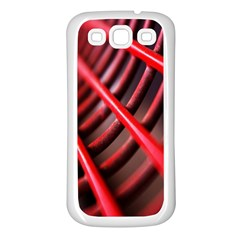 Abstract Of A Red Metal Chair Samsung Galaxy S3 Back Case (white)