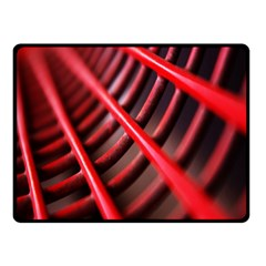Abstract Of A Red Metal Chair Double Sided Fleece Blanket (small)