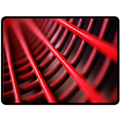 Abstract Of A Red Metal Chair Double Sided Fleece Blanket (Large)