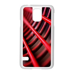 Abstract Of A Red Metal Chair Samsung Galaxy S5 Case (White)