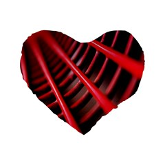 Abstract Of A Red Metal Chair Standard 16  Premium Flano Heart Shape Cushions