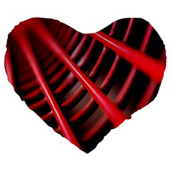 Abstract Of A Red Metal Chair Large 19  Premium Flano Heart Shape Cushions