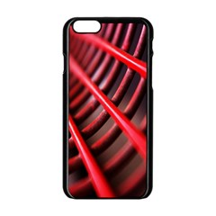 Abstract Of A Red Metal Chair Apple Iphone 6/6s Black Enamel Case