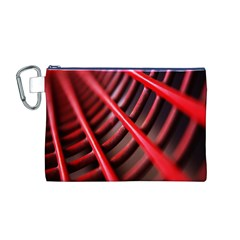 Abstract Of A Red Metal Chair Canvas Cosmetic Bag (M)