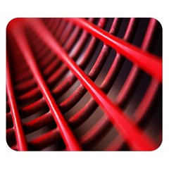 Abstract Of A Red Metal Chair Double Sided Flano Blanket (small)