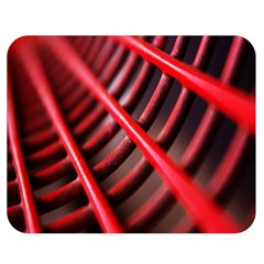 Abstract Of A Red Metal Chair Double Sided Flano Blanket (Medium)