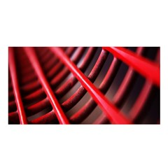 Abstract Of A Red Metal Chair Satin Shawl