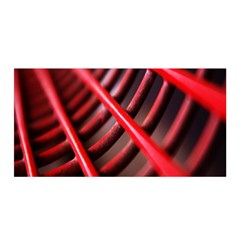 Abstract Of A Red Metal Chair Satin Wrap
