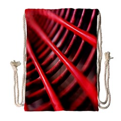 Abstract Of A Red Metal Chair Drawstring Bag (large)