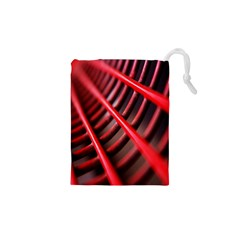 Abstract Of A Red Metal Chair Drawstring Pouches (XS)