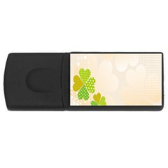 Leaf Polka Dot Green Flower Star USB Flash Drive Rectangular (2 GB)