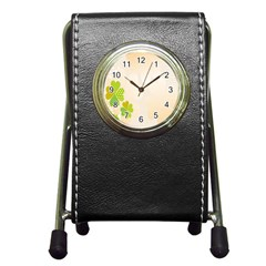 Leaf Polka Dot Green Flower Star Pen Holder Desk Clocks