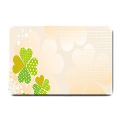 Leaf Polka Dot Green Flower Star Small Doormat