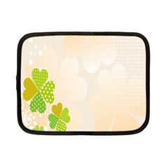 Leaf Polka Dot Green Flower Star Netbook Case (Small)