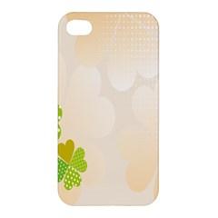 Leaf Polka Dot Green Flower Star Apple iPhone 4/4S Hardshell Case