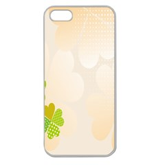 Leaf Polka Dot Green Flower Star Apple Seamless iPhone 5 Case (Clear)